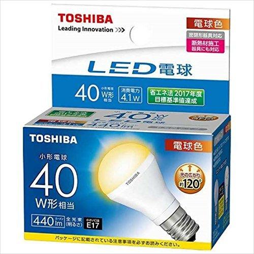 東芝 LED電球ミニクリ40W下方向L色 【品番】(T)LD...