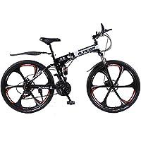 Altruism X9 マウンテンバイク 折り畳み式 シマノ21段変速 26インチタイヤ ロードバイク 泥除け 軽量 スチール製