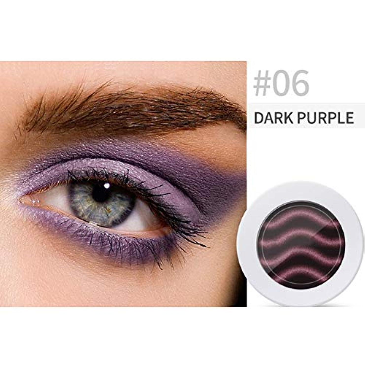 Rabugogo パールライトマットグラデーションアイシャドウコンターパウダーメイクアップツールフェイスハイライト 6#濃い紫