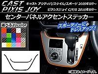 AP センターパネルアクセントステッカー カーボン調 キャスト アクティバ/スタイル/スポーツ / ピクシスジョイ C/F/S ブラック AP-CF798-BK 入数:1セット(2枚)