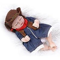NPKDOLL 目でリボーンベビードールハードシミュレーションシリコーンビニール10インチの26センチメートル防水バース子供のおもちゃプレゼントブルーカウガールガールは休館します Reborn Baby Doll A1JP