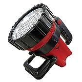 山善(YAMAZEN) 充電式強力LEDサーチライト 赤