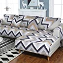 洗浄綿 1,幾何学的です マルチ サイズ リクライニング ソファ カバー 椅子,アンチ スリップ ペット用家具プロテクター 子供-H 90x180cm(35x71inch)