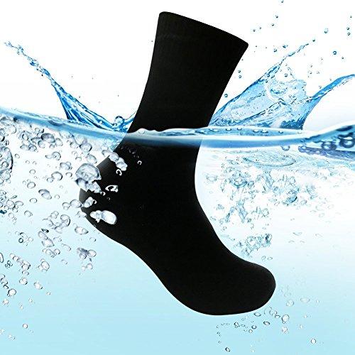 WATERFLY(ウォーターフライ) 防水ソックス 防水靴下 完全防水 通気 ゴアテックス 登山 スキー 通勤 釣り ブラック CYW-A