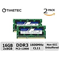 Timetec Hynix IC 16 GB Kit(2x8GB) ノートPC用メモリ DDR3L 1600 MHz PC3L 12800 204 Pin SODIMM Laptop memory upgrade 永久保証 (16 GB Kit(2x8GB))
