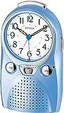 CITIZEN ( シチズン ) おもしろ 目覚まし 時計 伝言くん ルージュW 録音 再生 機能 付き ブルー 4SE521-004