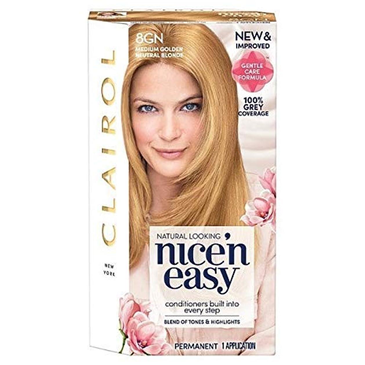 歌う形式カビ[Nice'n Easy] Nice'N簡単8Gnメディア黄金の自然なブロンド - Nice'n Easy 8Gn Medium Golden Natural Blonde [並行輸入品]