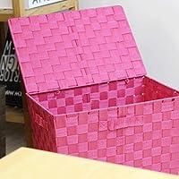 WTL かご?バスケット 収納ボックススナックで覆われた和風リビングルームの麦わら色 (色 : B)