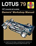 洋書「ロータス 79」ワークショップマニュアル JPS LOTUS F1