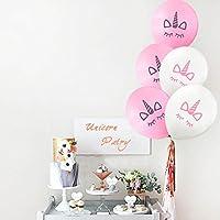 5/10/20Pcs Unicorn Balloon Birthday Party Kids Pink White Cartoon Unicorn Decors