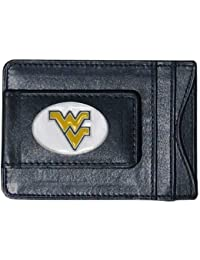 West Virginia Mountaineers Fineレザーマネークリップ – ブラック