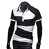 【 スマイズ スマイル 】 Smaids×Smile メンズ ポロシャツ 半袖 スリム ゴルフ ウェア バイカラー (ブラック M)