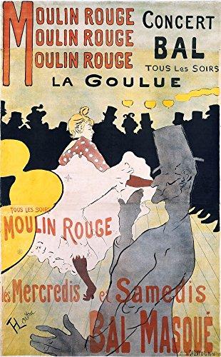 [해외]회화 풍 벽지 포스터 (벗길 스티커 식) 로트렉 물랭 루주 La Goulue 포스터 1891 년 캬라쿠로 K-LRB-001S2 (373mm × 603mm) 건축 배경 화면 + 내후성 도료/Painting Wind Wallpaper Poster (Sticky Sealing Formula) Laotrec Moulin · Rouge La Go...