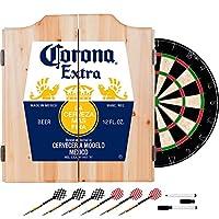 Corona Extra Dart Board Set withキャビネット–ラベル–by Corona