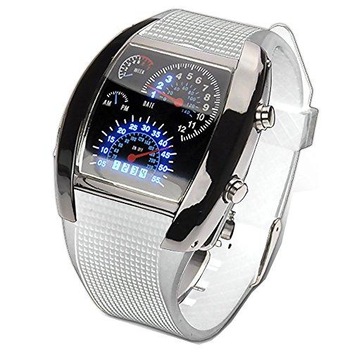 [해외]iimono117 속도계 바람 디지털 시계 | 스포츠 용 시계 LED 속도계 디자인 타코미터 쿼츠 남성용 남성용 시계 세련된 패션 디지털 시계/iimono 117 Speedometer style digital watch | sports type wrist watch LED speedometer design tachometer qu...
