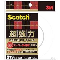 == まとめ == / 3M / スコッチ/超強力両面テープ/プレミアゴールド / == スーパー多用途 == / 19mm×4m / SPS-19 / 1巻 / - ×4セット -