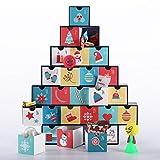 VIVOHOME トレジャーボックス アドベントカレンダー ギフト引き出し付き 子供用 カウントダウンからクリスマス VH265US