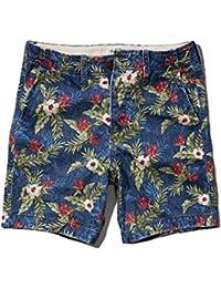 アバクロ Abercrombie&Fitch 正規品 メンズ ショートパンツ A&F Preppy Fit Shorts 7 Inseam 128-283-0488-021 並行輸入品 (コード:4091060207)
