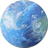 Seninhi 【8色を選択可能】マウスパッド プラネット マウスパッド/惑星 星 宇宙 個性的 おしゃれ 柔軟 かわいい プラネット 人気  惑星 宇宙 星 丸型 星シリーズ (地球)
