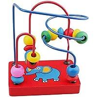 GoodPlay幼児用ミニ木製ビーズワイヤ迷路マルチカラー教育玩具クリスマスクリスマス新しい年誕生日ギフトforキッズ