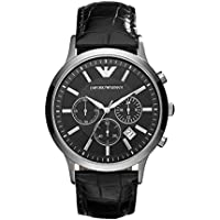Emporio Armani Men's Classic Analog Analog-quartz Black Watch, (AR2447)