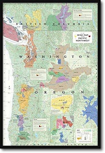 パシフィック・ノースウェスト ワインマップ Wine Map of the Pacific Nort【正規品】