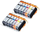 【並行輸入品】12 Pack Compatible Canon CLI-226 PGI-225 2 Small Black 2 Cyan 2 Gray 2 Magenta 2 Yellow 2 Big Black for use with Canon PIXMA MG6120 PIXMA MG6220 PIXMA MG8120 PIXMA MG8120B PIXMA MG8220. Ink Cartridges for inkjet printers. CLI-526BK CLI-526C CLI-526GY CLI-526M CLI-526Y PGI-525BK