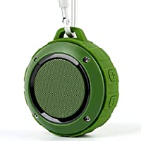 bluetooth スピーカー Lenrue F4 ミニワイヤレススピーカー IP45 防水&防塵認証 マイク内蔵 高音質 アウトドアスピーカー TF カード対応/iPhone/iPad/Android/タブレットなどに対応 (緑)