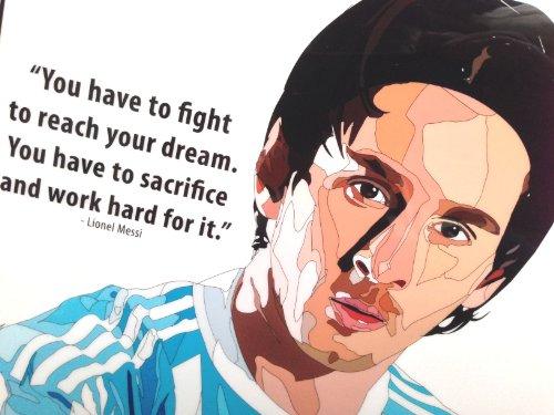 リオネル・メッシ アルゼンチン代表 海外製 サッカーグラフィックアートパネル 木製ポスター インテリア
