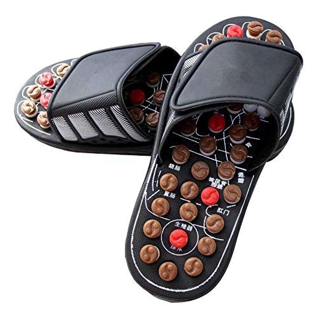 音節影響する動脈GUANG-LADIES SLIPPERS マッサージスリッパソール鍼治療ペディキュアシューズ男性と女性の足のマッサージシューズ夏の屋内サンダルとスリッパ (Color : B, Size : 25.5CM)