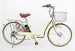 21Technology DA246折りたたみ電動アシスト自転車 24インチ 6段変速 (アイボリー)