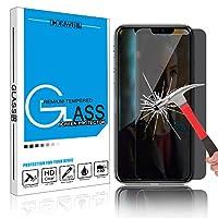 Hadari iPhone XS Max(6.5inch) 覗き見防止ガラスフィルム液晶保護強化ガラスフィルム 3D Touch対応 超薄型 硬度9H 高感度 耐衝撃 指紋防止 飛散防止 自己吸着 iPhone XS Max 対応(1枚パック)