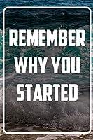 Remember why you started: Terminplaner und Organizer mit Motivations-Spruch | Geschenk fuer Unternehmer, Entrepreneure, Selbststaendige, Arbeitskollegen, Kollegen und Mitarbeiter | Terminkalender, Taschenkalender, Wochenplaner, Jahresplaner