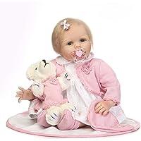 Baynne 55cm キッズ リボーン ベビードール ソフトシリコン 生きているような新生児人形 女の子