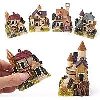 baost 1pcミニチュア家Pretend Play Fairy Garden城マイクロ風景Dreamyドールハウス装飾樹脂クラフトインテリア誕生日女の子用 M SZGB396577