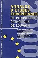 Annales d'etudes europeennes de l'ucl