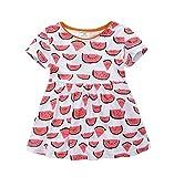 dizoon(ディゾン) [夏シリーズ]ドレス スカート 女の子 半袖 いろいろな タイプ すいか 1-6歳 (1歳半(80-85cm))