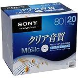 SONY 録音用CD-Rオーディオ 80分 手書もできるホワイトワイドプリンタブル 20枚P 20CRM80HPWS
