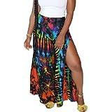 SAMACHICA Women's Boho Tie Dye Pants Elastic Waist Yoga Wide Leg Harem Pants Jogger Hippie Pants with Pockets