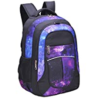 Galaxy Backpack for Kids, Boys, Girls, Teens by Fenrici, Durable 18 inch Rucksack for Primary and Secondary School Students, Supporting a Great Cause (Faith, M)