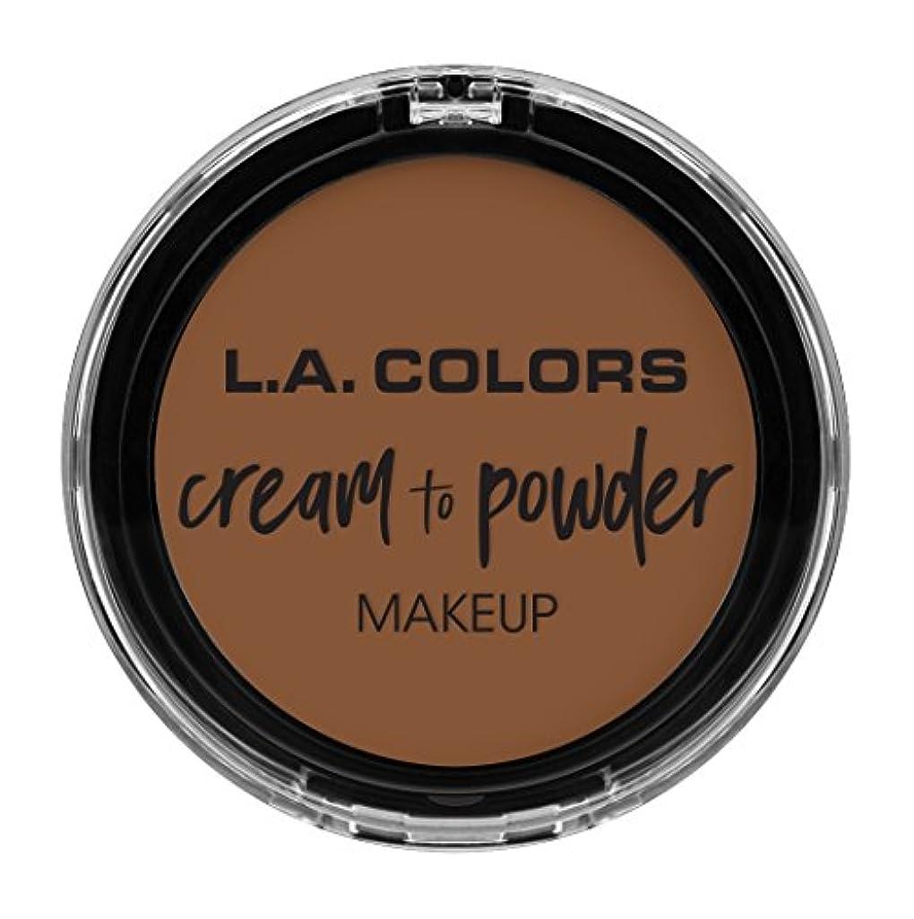 ユダヤ人昆虫適合するL.A. COLORS Cream To Powder Foundation - Toast (並行輸入品)
