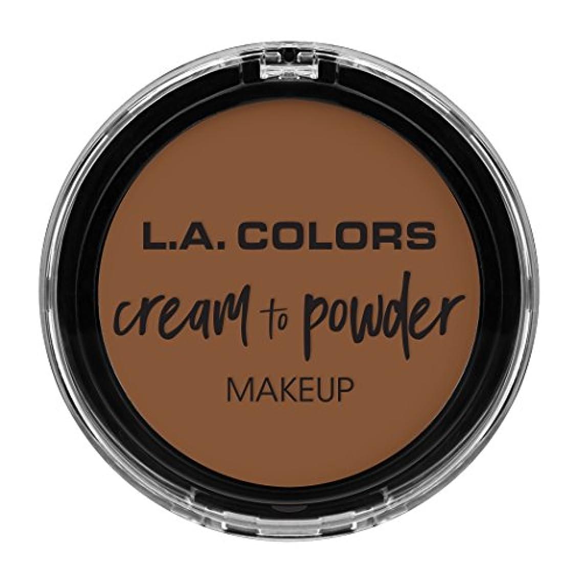 うん一貫性のない重大L.A. COLORS Cream To Powder Foundation - Toast (並行輸入品)