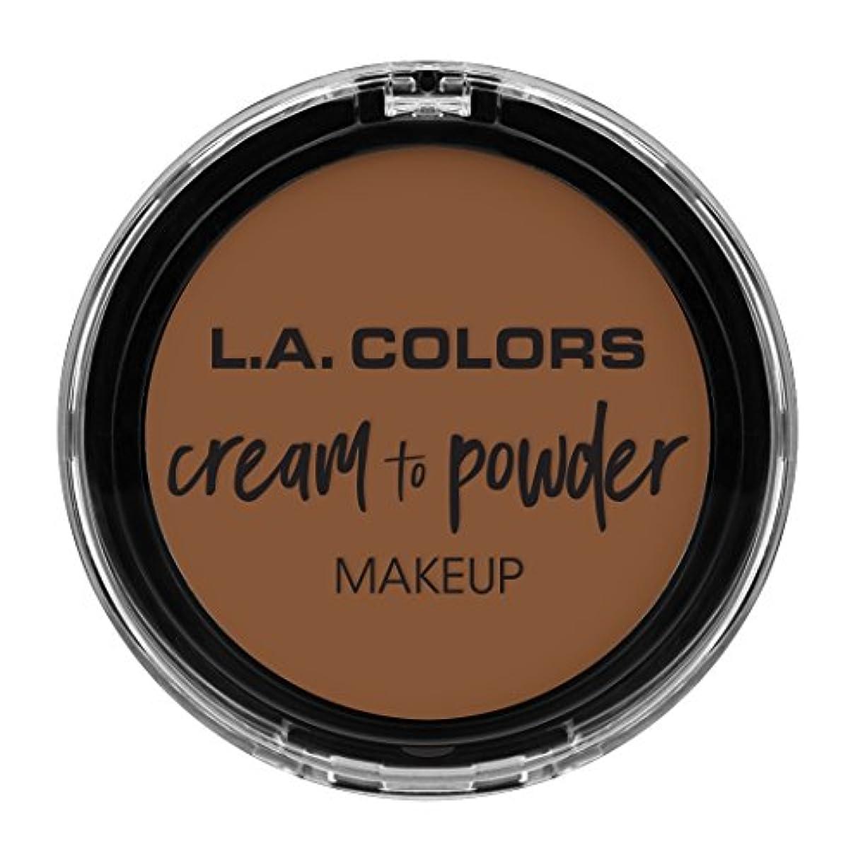 イブ化学薬品博物館L.A. COLORS Cream To Powder Foundation - Toast (並行輸入品)