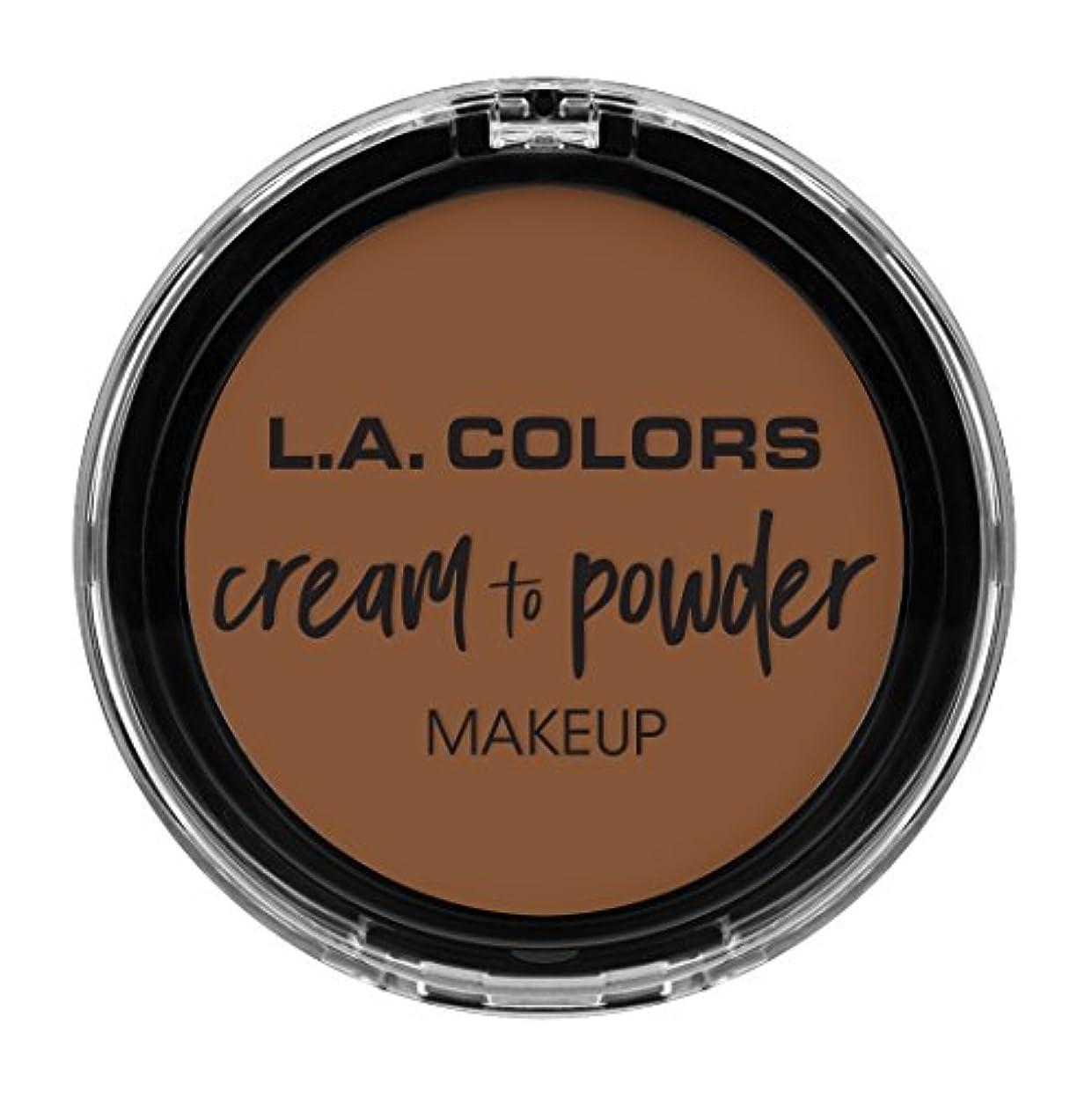 戦闘暴力的な見せますL.A. COLORS Cream To Powder Foundation - Toast (並行輸入品)