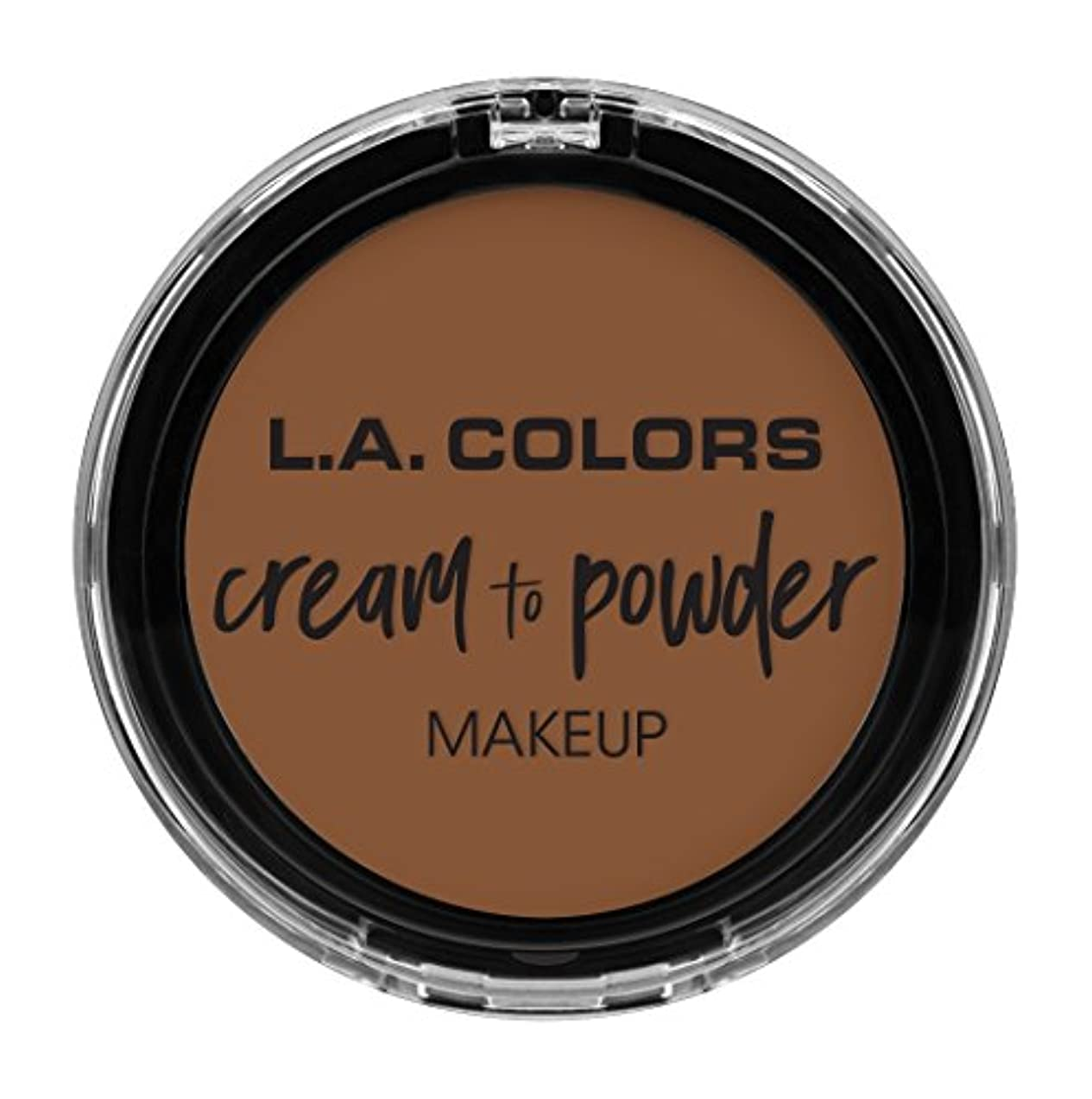 潜むマラソン嘆願L.A. COLORS Cream To Powder Foundation - Toast (並行輸入品)