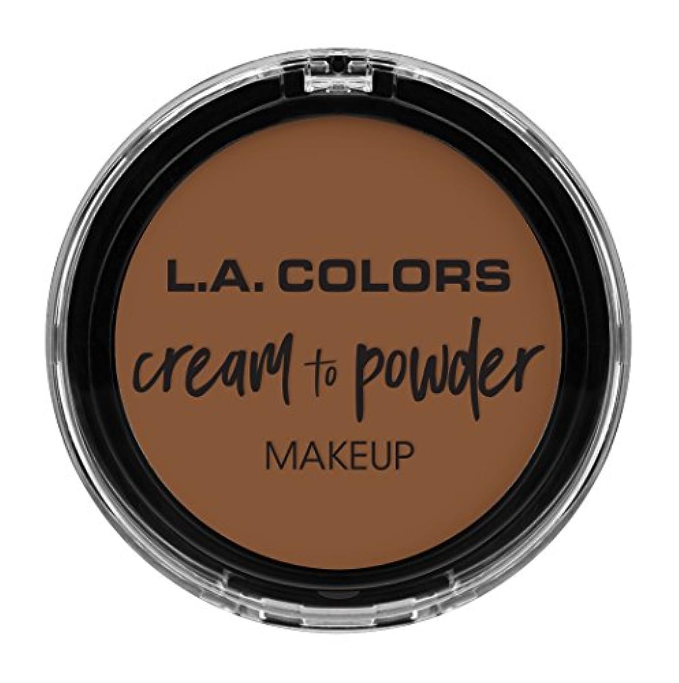 新年一元化するアルバニーL.A. COLORS Cream To Powder Foundation - Toast (並行輸入品)