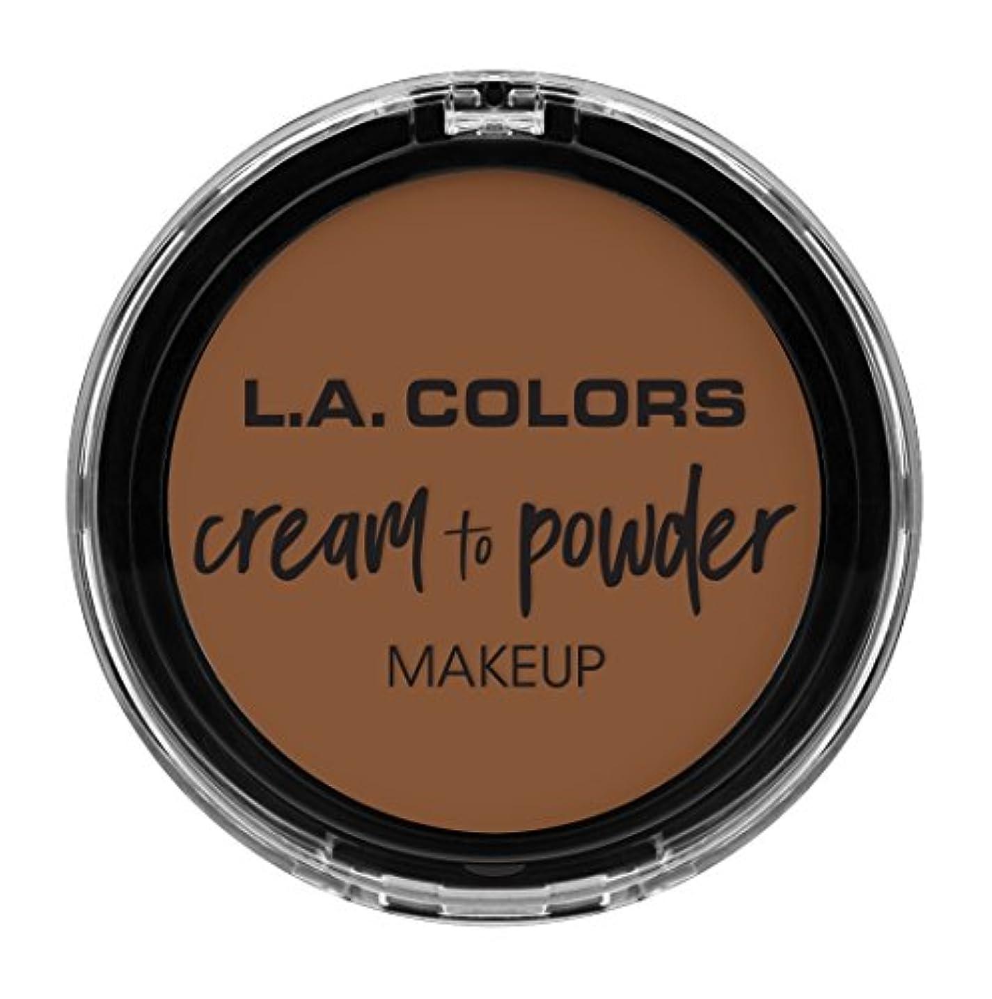 上級ゲートウェイ不格好L.A. COLORS Cream To Powder Foundation - Toast (並行輸入品)