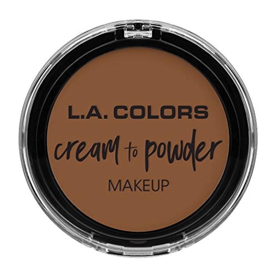 共産主義者吸収剤リラックスL.A. COLORS Cream To Powder Foundation - Toast (並行輸入品)