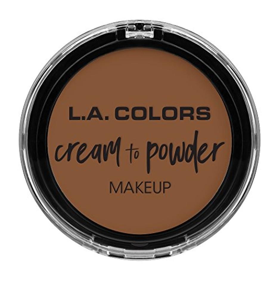 舞い上がる鳩勝つL.A. COLORS Cream To Powder Foundation - Toast (並行輸入品)