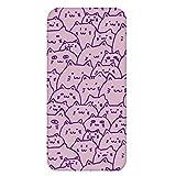 ホワイトナッツ Galaxy S5 SC-04F ケース クリア ハード プリント パターンC(cw-268) スリム 薄型 ねこ ネコ 猫 CAT WN-PR432806